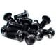 Tr!ckstuff tornillos ultraligeros para discos de freno - Aluminio M5x10 T20 12 unidades negro